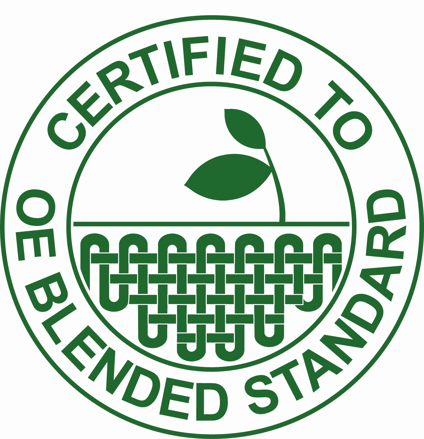 certified to the of blended standard