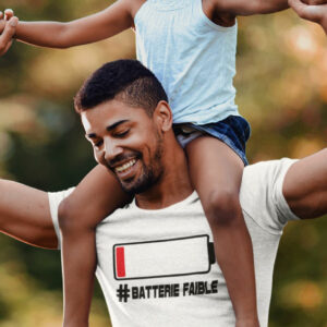 Teeshirt Homme - Batterie Faible