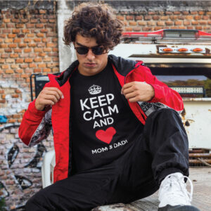 Teeshirt Homme - Keep Calm And Love Mom & Dad