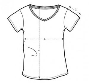 tshirt femme col V teeshirt-minute