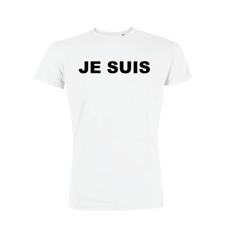 Tshirt Homme - Je Suis - Blanc