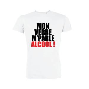 Teeshirt Homme - Mon Verre M'Parle Alcool !