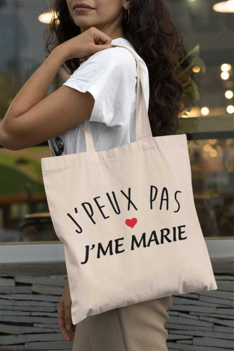Tote Bag - J'peux Pas J'me Marie