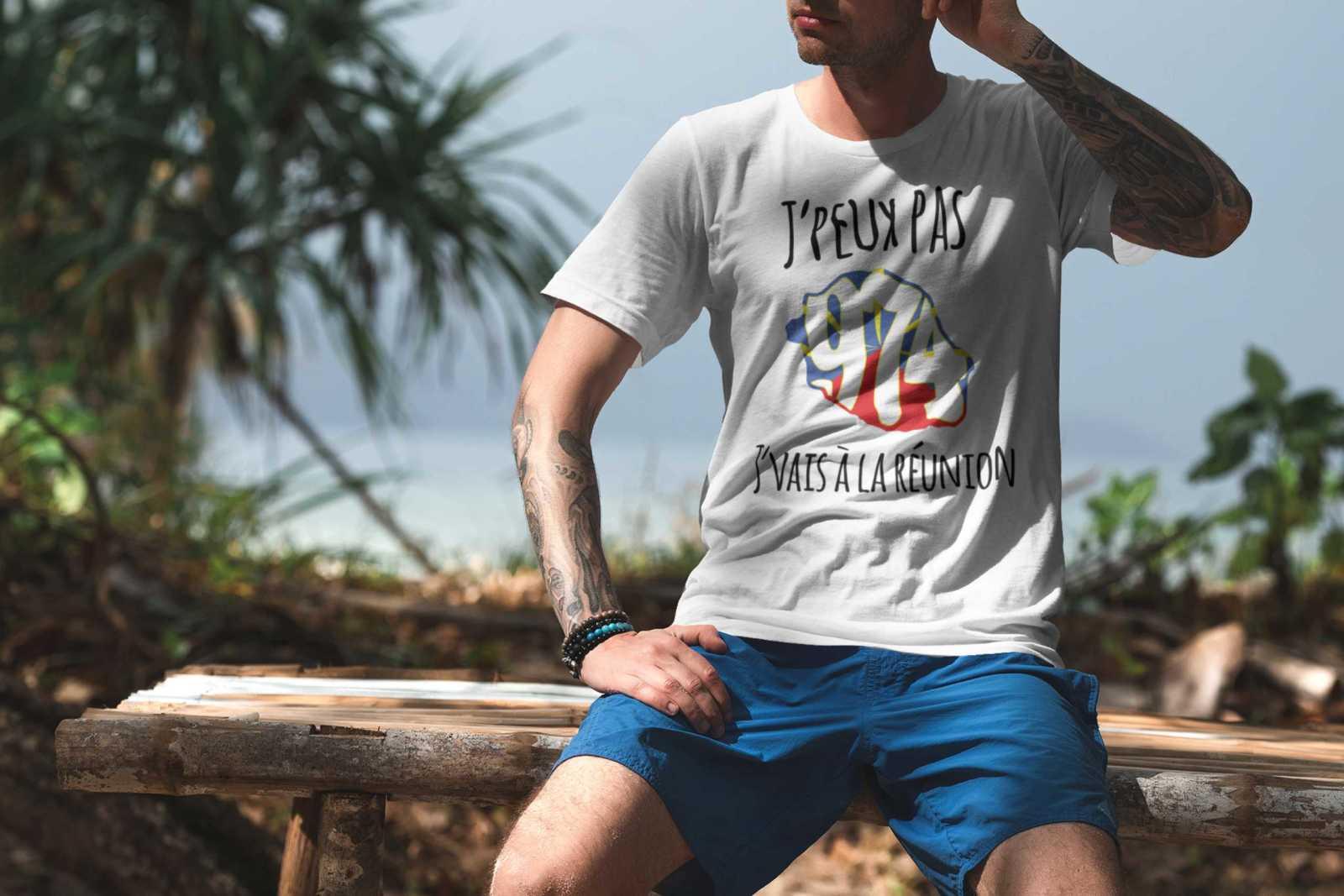 Teeshirt Homme - J'peux Pas J'vais À La Réunion