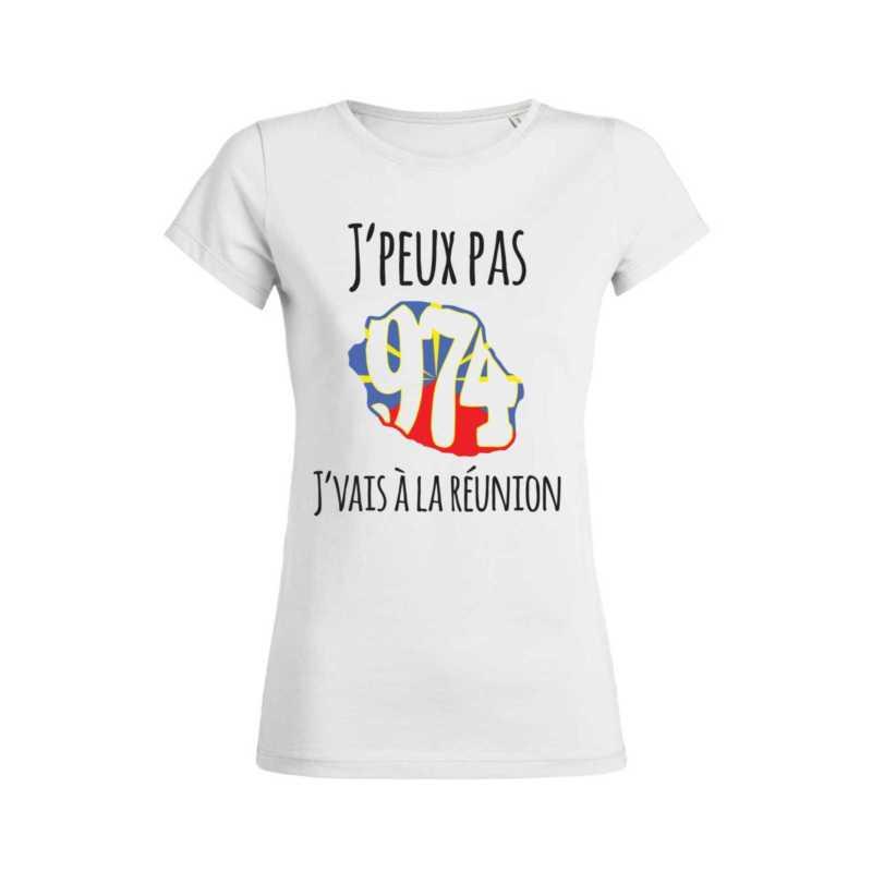 Teeshirt Femme - J'peux Pas J'vais À La Réunion