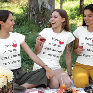 Teeshirt Femme - Boire Un Canon C'est Sauver Un Vigneron