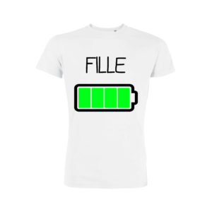 Teeshirt Fille - Batterie Pleine