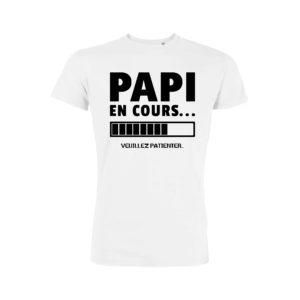 Teeshirt Homme - Papi En Cours (Veuillez Patienter)