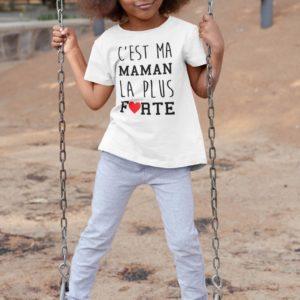 Teeshirt Enfant - C'est Ma Maman La Plus Forte