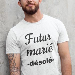 Teeshirt Homme - Futur Marié (Désolé)