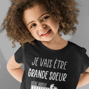 Teeshirt Enfant - Je Vais Être Grande Soeur - Bébé Arrive (Veuillez Patienter...)