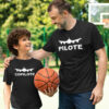 Pack 2 T-shirts - Pilote - Copilote