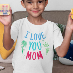 Teeshirt Enfant - I Love You Mom