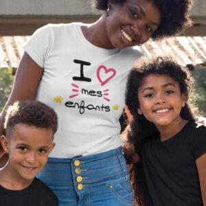 Teeshirt Femme - I Love Mes Enfants