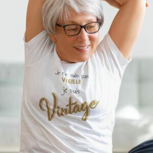 Teeshirt Femme - Je Ne Suis Pas Vieille Je Suis Vintage