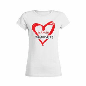 Teeshirt Femme - Maman Imparfaite - Blanc
