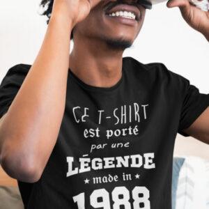 Teeshirt Homme - Ce T-shirt Est Porté Par Une Légende Made In (Votre Date)