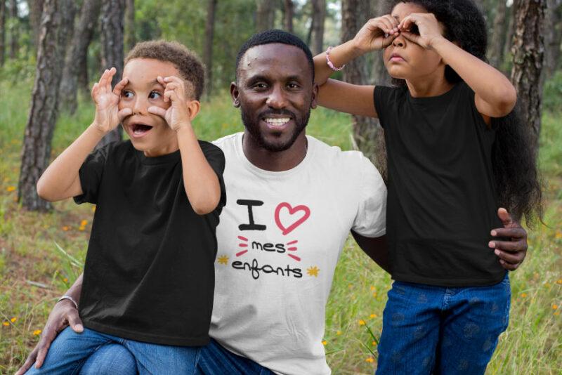 Teeshirt Homme - I Love Mes Enfants