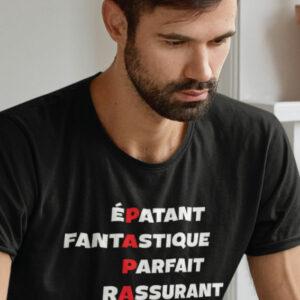 Teeshirt Homme - Papa Épatant Fantastique Parfait Rassurant